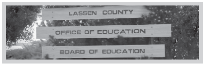 Lassen County Office of Education Board of Education sign