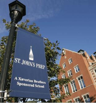 St. John's Prep school banner