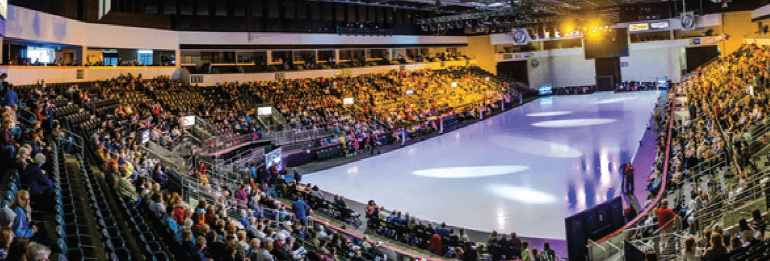 Ice arena with a crowd
