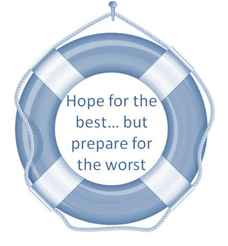 "Quote, ""Hope for the best...but prepare for the worst"""