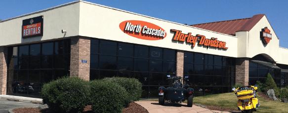 North Cascades Harley Davidson building