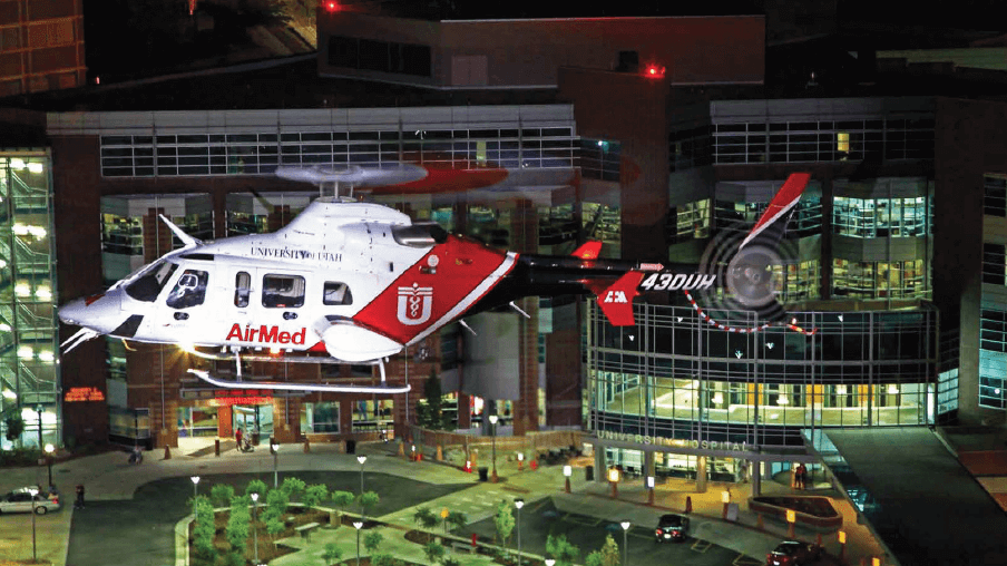 University of Utah AirMed helicopter