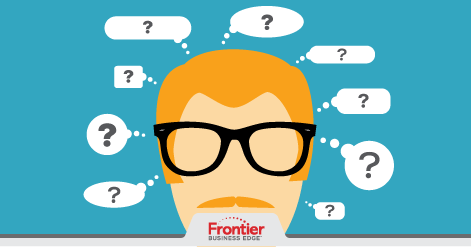 Illustrated graphic of man surrounded by question bubbles