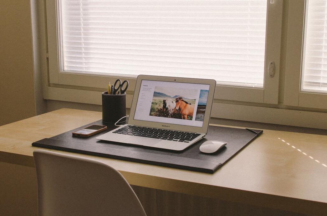 An organized office desk