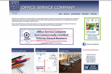Office Service Company website screenshot