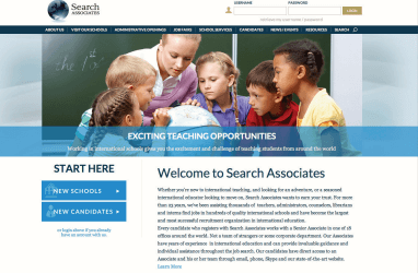 Search Associates website screenshot
