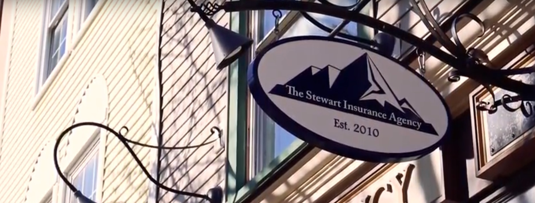 The Stewart Insurance Agency sign
