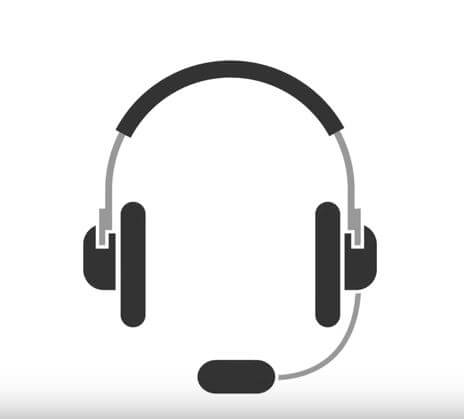Illustration graphic of headset