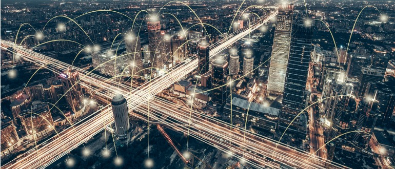 connected-city-night-sd-wan