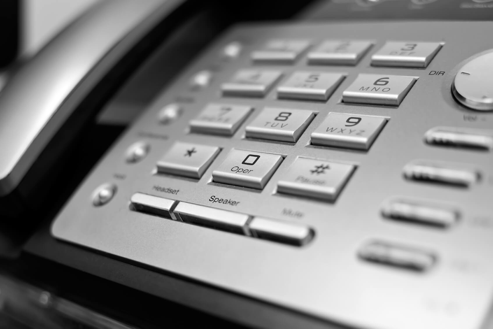 Close up of a business phone